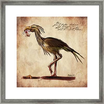 Never Bird Framed Print