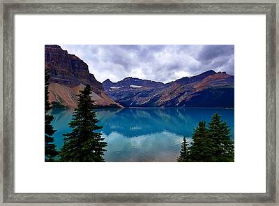 Bow Lake, Banff, Ab  Framed Print
