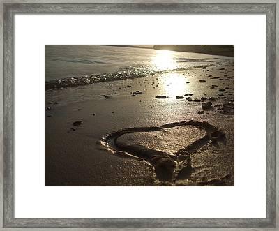 Never-ending Love Framed Print by Ali Dover