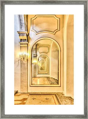 Never Ending Reflection Of Mirrors Framed Print by Semmick Photo