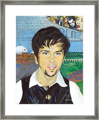 Never Fade To Grey - Steve Strange Framed Print by Michelle Deyna-Hayward