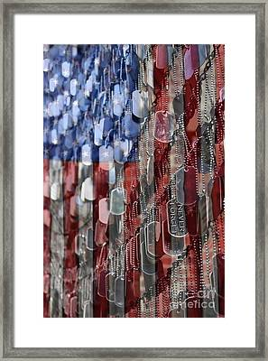 Framed Print featuring the photograph Never Forget American Sacrifice by DJ Florek
