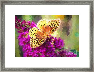 Never Hide Your Wings Framed Print by Tina LeCour