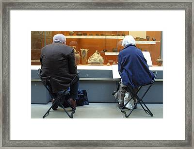 Never Leave Home Without Your Folding Seat Framed Print by Jez C Self