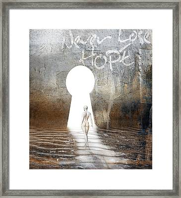 Never Lose Hope Framed Print by Jacky Gerritsen