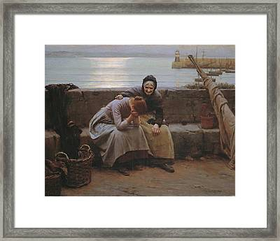 Never Morning Wore To Evening But Some Heart Did Break Framed Print by Walter Langley