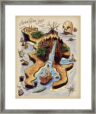 Never Never Land Framed Print