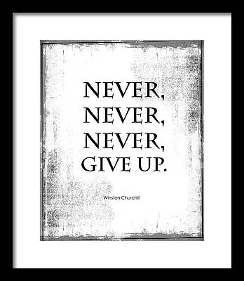 Inspirational Quotation Framed Prints