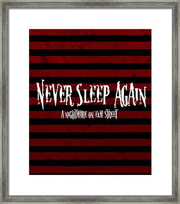 Never Sleep Again Framed Print by Kyle West