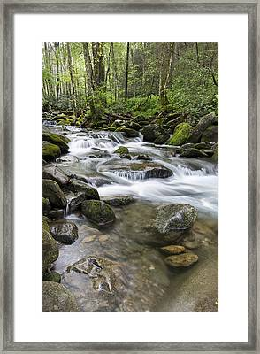 Never Stops Framed Print by Jon Glaser