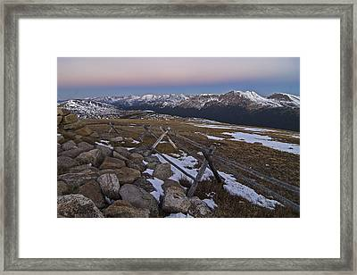 Framed Print featuring the photograph Never Summer Range by Gary Lengyel