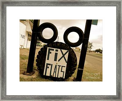 Never Tire Of Tire Art Framed Print by Chuck Taylor