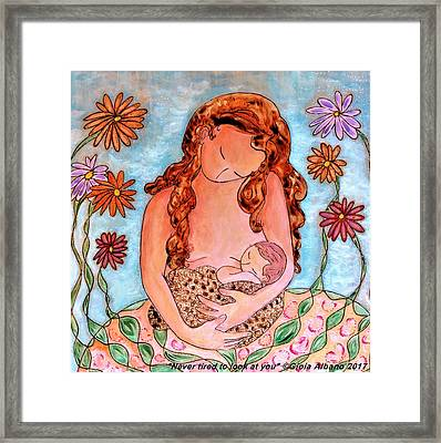 Never Tired To Look At You Framed Print by Gioia Albano