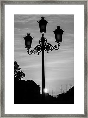 Neverdark Framed Print