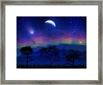 Framed Print featuring the photograph Neverending Nights by Bernd Hau