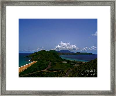 Nevis II Framed Print by Louise Fahy