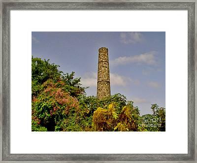 Nevis Sugar Mill II Framed Print by Louise Fahy