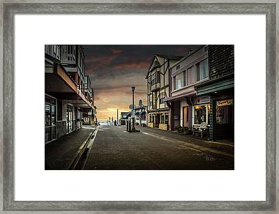 Nye Beach Sunset Framed Print