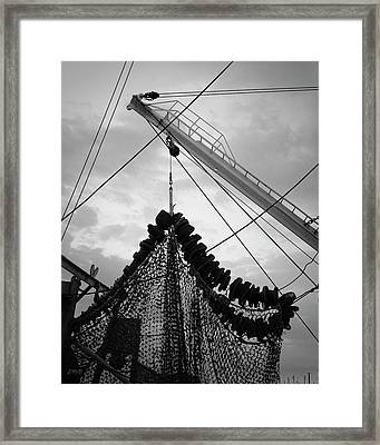 New Bedford Waterfront Xvii Bw Framed Print by David Gordon