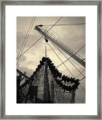 New Bedford Waterfront Xvii Toned Framed Print by David Gordon