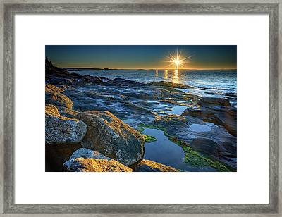 New Beginnings On Muscongus Bay Framed Print by Rick Berk