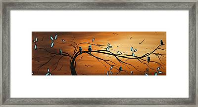 New Bloom By Madart Framed Print by Megan Duncanson