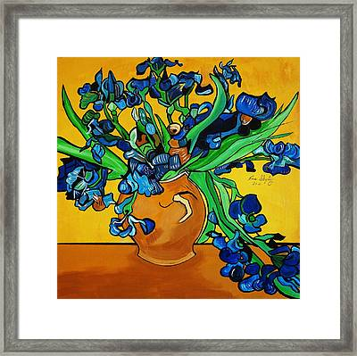 New Blue By You Framed Print by Nora Shepley