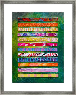 Framed Print featuring the mixed media New Books In Moss Library Norway by Polly Castor
