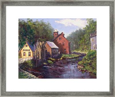 New Boston On The River Framed Print