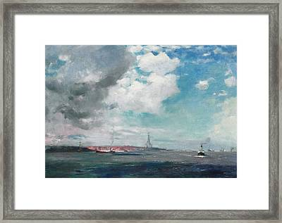 New Brighton From The Mersey Framed Print by JH Hay