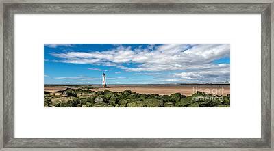New Brighton Lighthouse  Framed Print by Adrian Evans