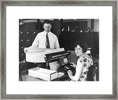New Census Bureau Machines Framed Print