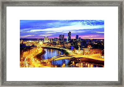 Framed Print featuring the photograph New Center Of Vilnius by Fabrizio Troiani