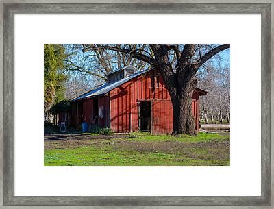 New Clairvaux Abbey Barn Framed Print
