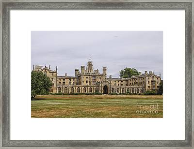 New Court St John's College, Cambridge Framed Print by Patricia Hofmeester