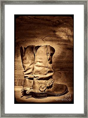 New Cowboy Boots Framed Print