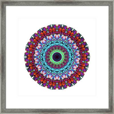 New Dawn Mandala Art - Sharon Cummings Framed Print by Sharon Cummings