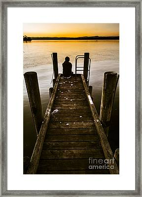 New Day A Piers Framed Print by Jorgo Photography - Wall Art Gallery