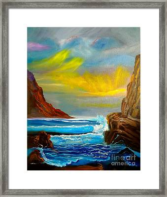 New Day In Paradise Framed Print