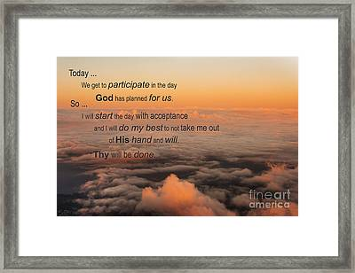 New Day Of Acceptance Framed Print by MaryJane Armstrong