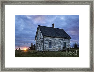 New Day Old House Framed Print by John Greim