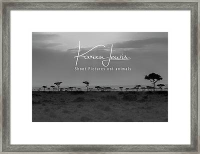Framed Print featuring the photograph New Day On The Mara by Karen Lewis