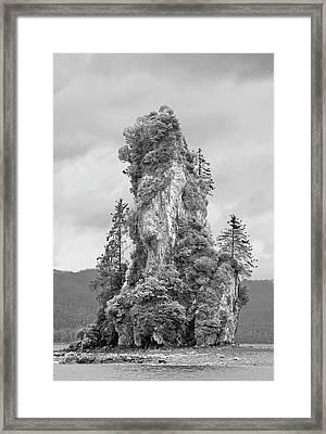 New Eddystone Rock Framed Print