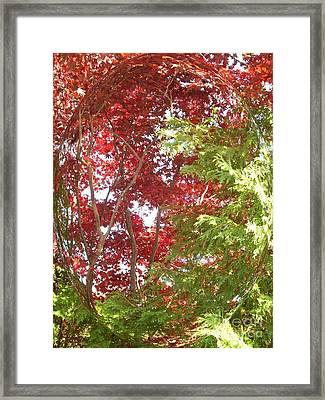 New England Autumn Globe Framed Print by Kristine Nora