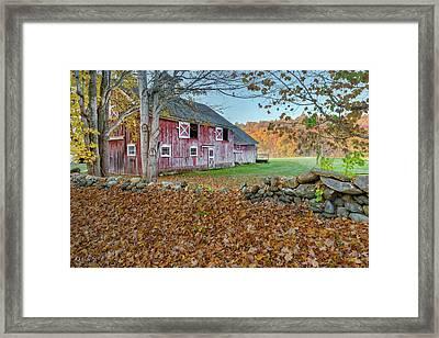 New England Barn 2016 Framed Print