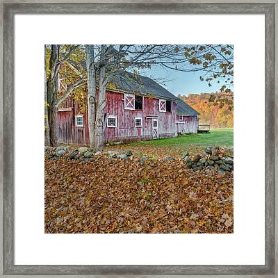 New England Barn 2016 Square Framed Print
