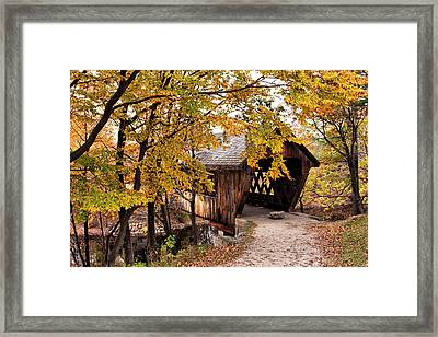 New England College No. 63 Covered Bridge  Framed Print