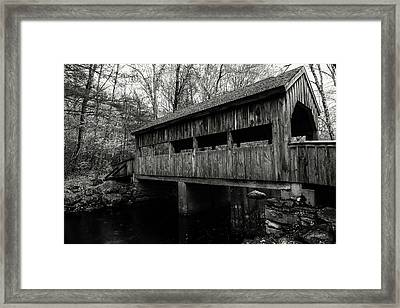 New England Covered Bridge Framed Print