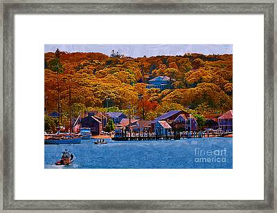 New England Fall Coastline Framed Print