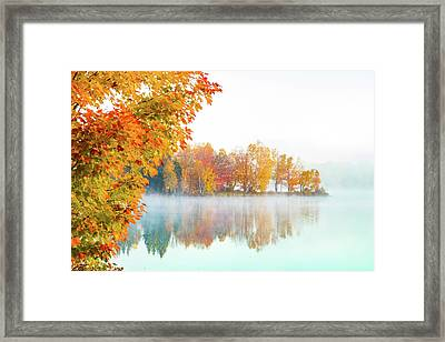 New England Fall Colors Of Maine Framed Print